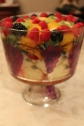 New Year's Eve Grenadine Trifle