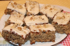 Banana Walnut Cake Bars