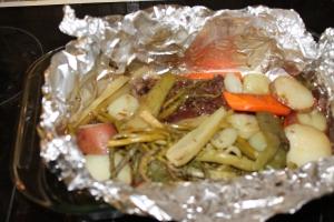 Foil-Wrapped Steak Supper