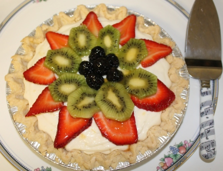 Cream Cheese Pie with Glazed Fresh Fruit