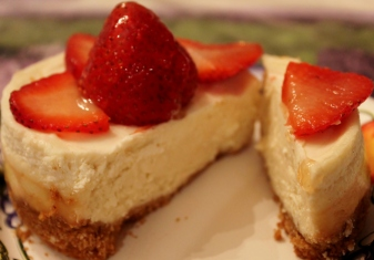 mini cheesecake cut