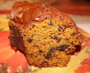 Pumpkin Raisin Date Nut Bundt Cake