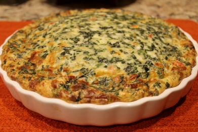 3-Cheese Crustless Spinach Quiche