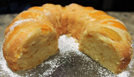 Easy Double Peach Pound Cake