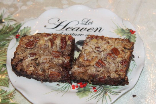 German Chocolate Bourbon Pecan Pie Bar